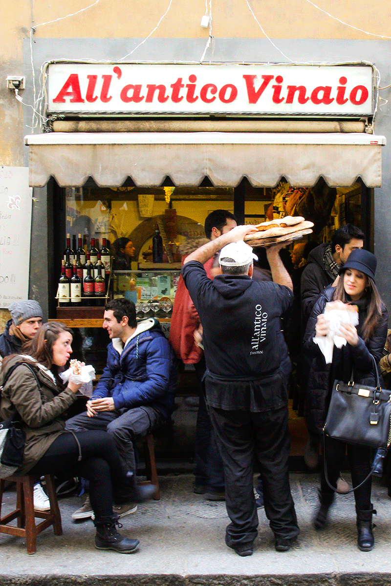 Antico Vinaio, Florence (Firenze) street food, Tuscan, Italy