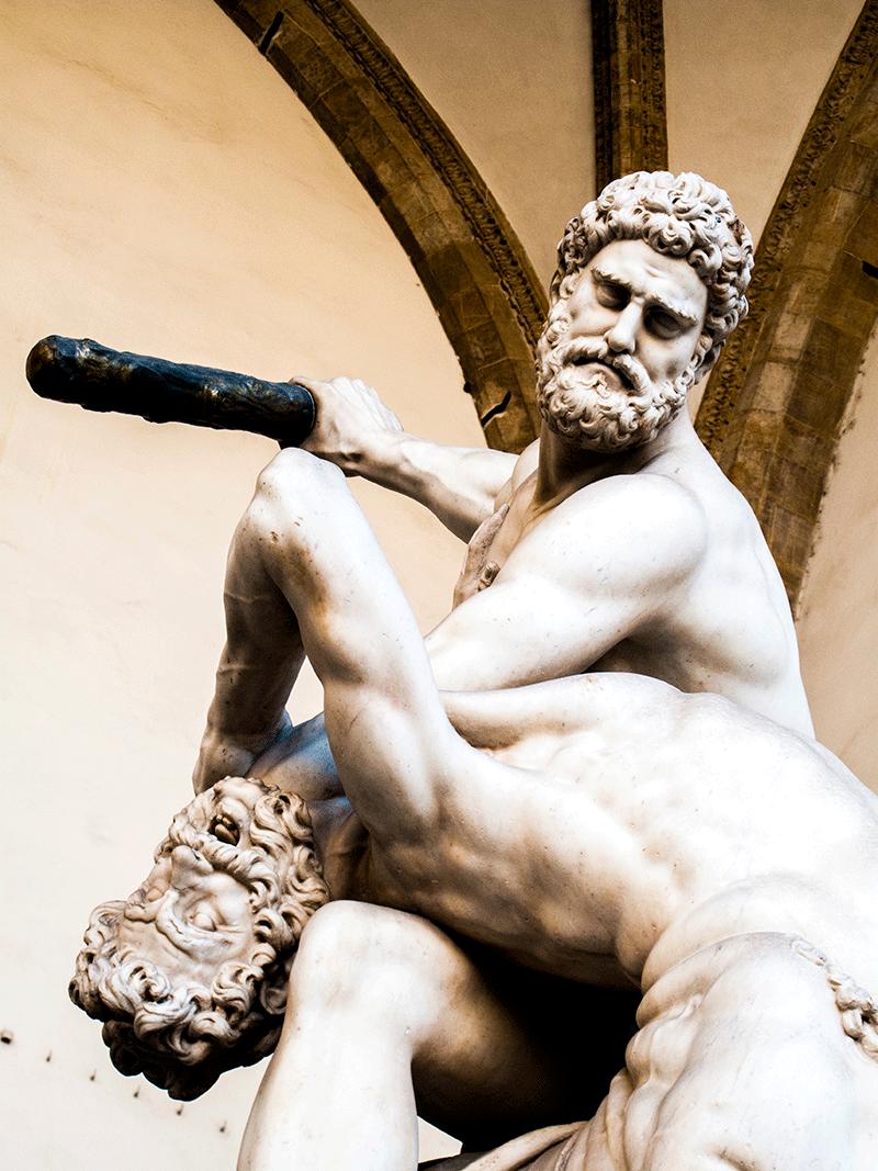 Hercules beating the Centaur Nessus , Loggia dei Lanzi, Florence, Italy