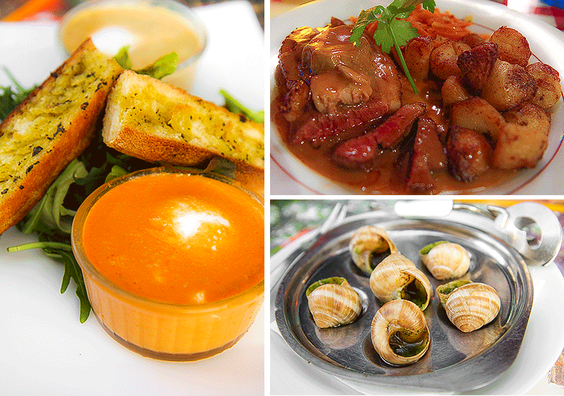 French cuisine - what and where to eat in Paris