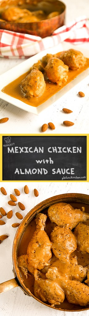 Mexican chicken with almond sauce (pollo en salsa de almendras)
