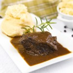 Braised beef cheeks stew - Italian recipe