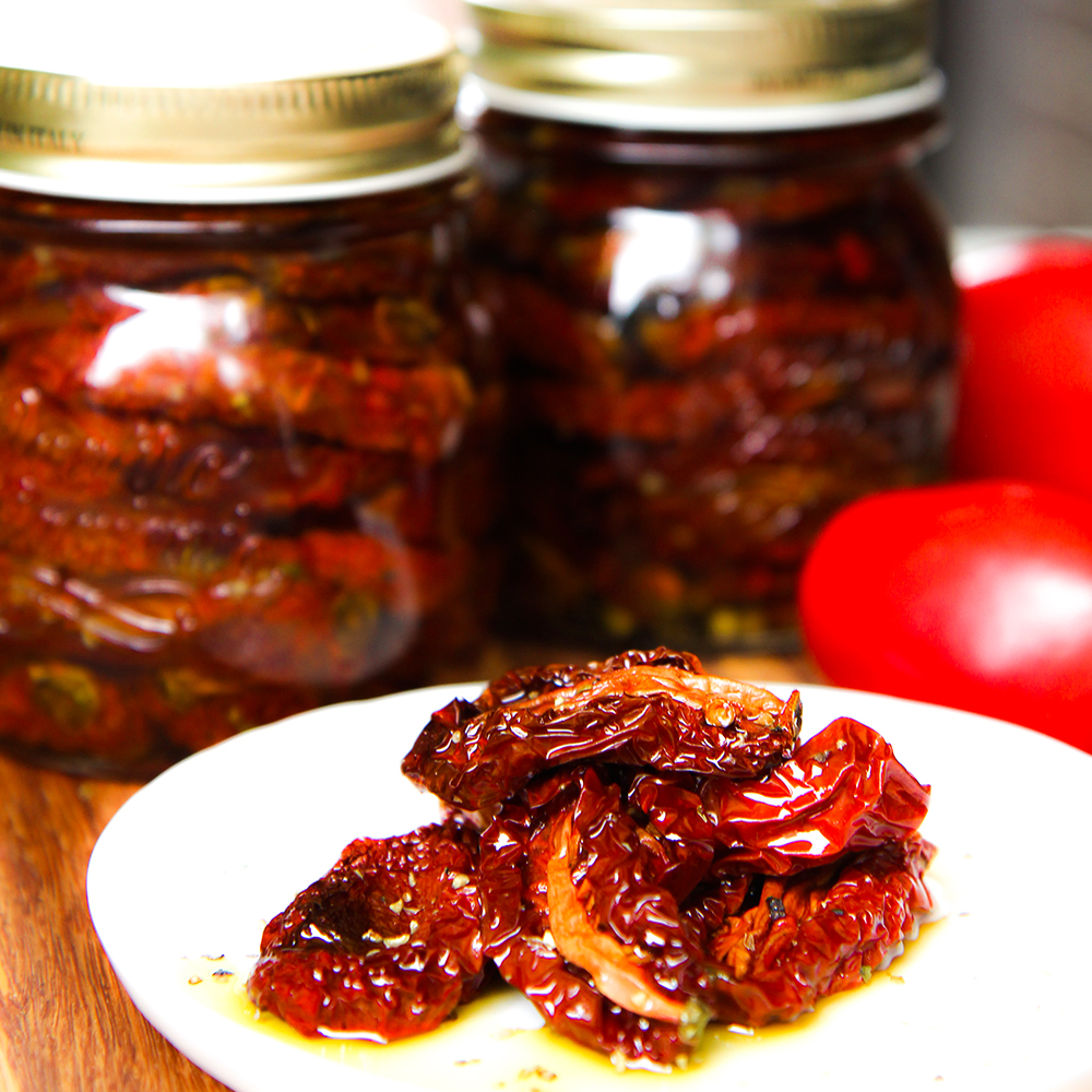 Homemade Sun Dried Tomatoes Preserved In Olive Oil