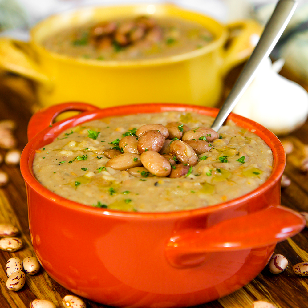 Italian rice and beans soup