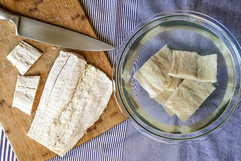 How to prepare salted cod