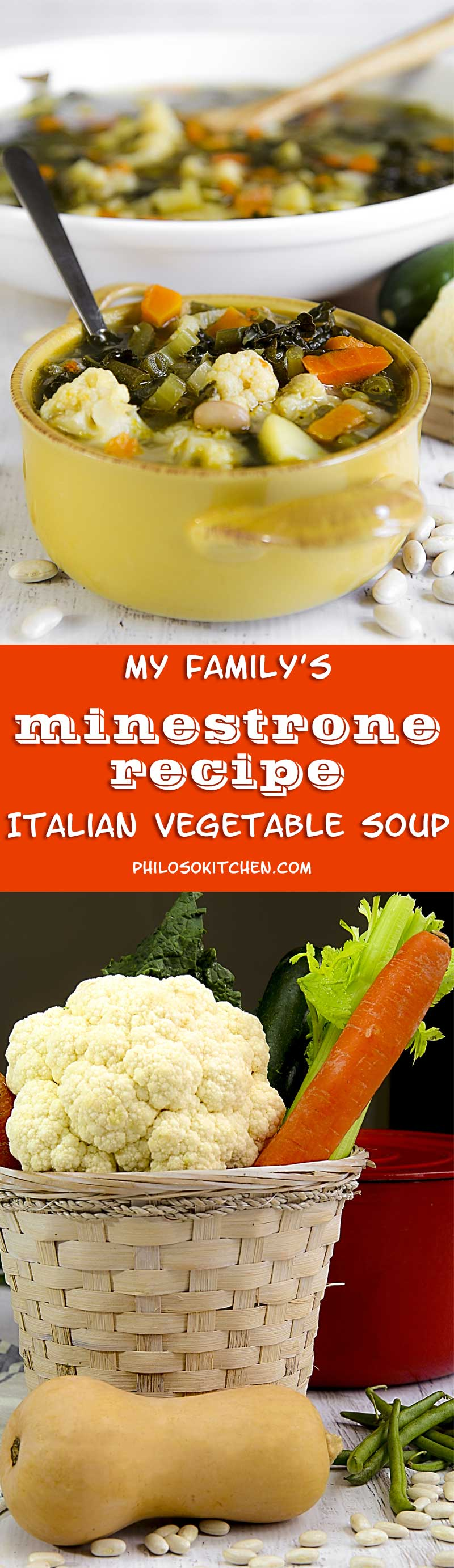 MY MINESTRONE FAMILY RECIPE - Italian vegetable soup