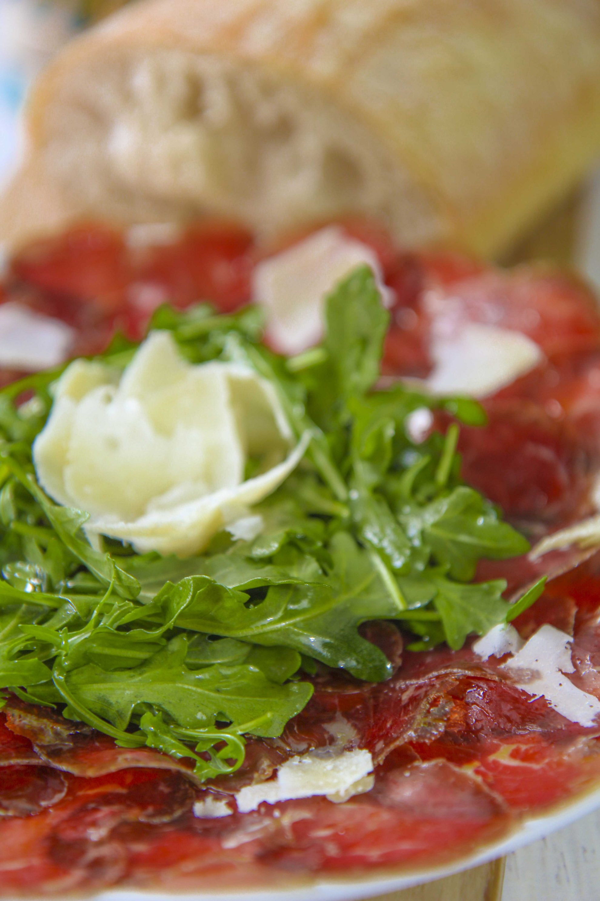 ITALIAN BRESAOLA SALAD with arugula and cheese