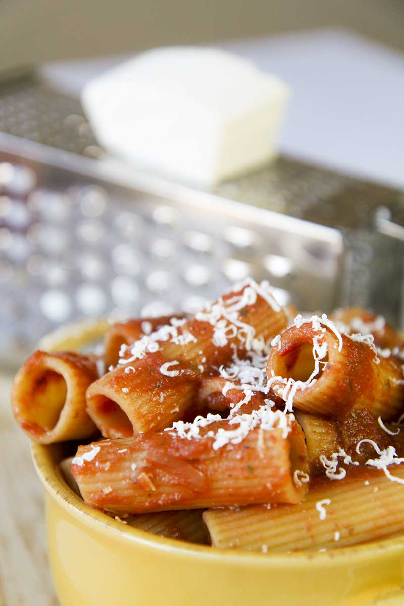 RIGATONI PASTA with pizzaiola sauce