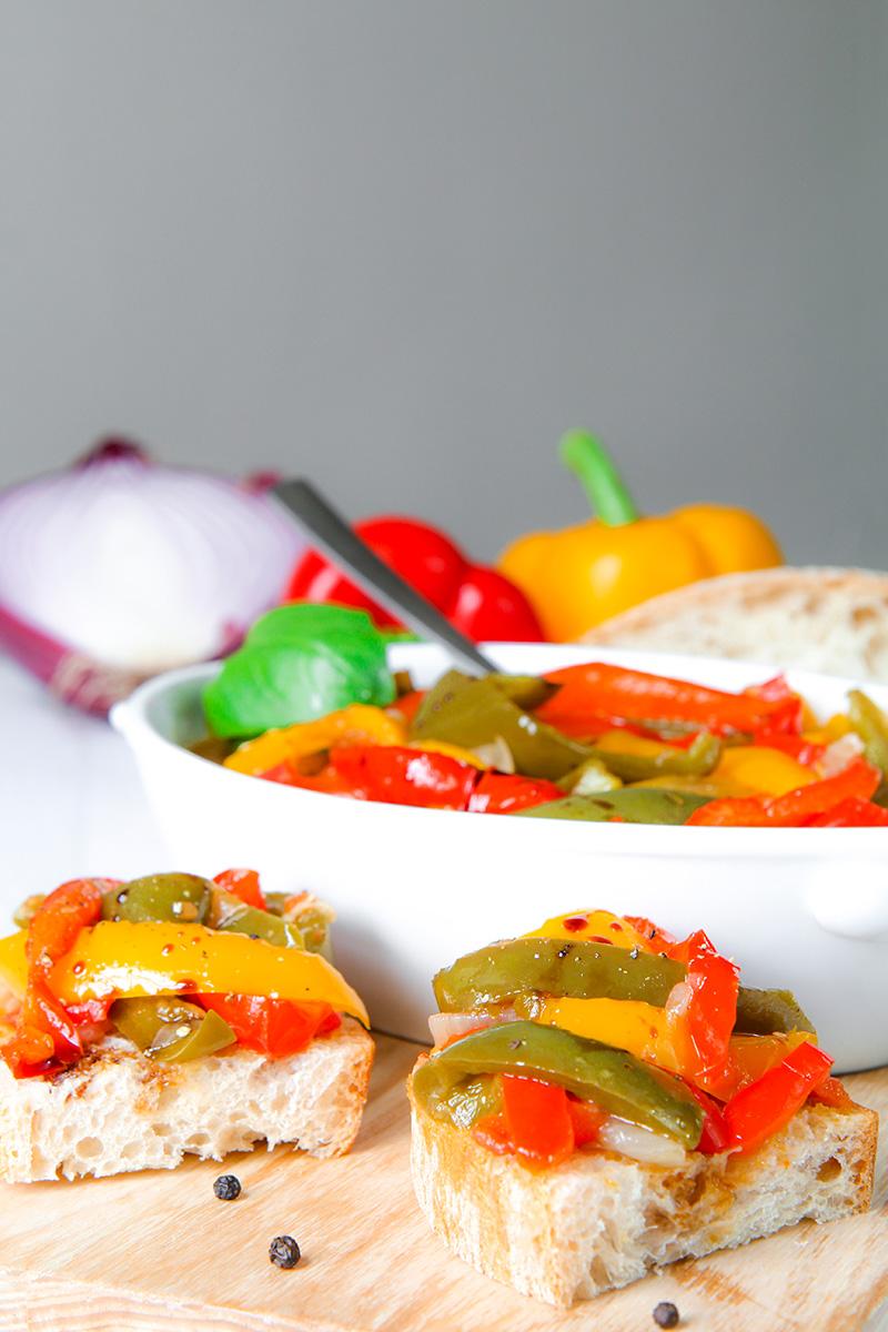 PEPERONATA RECIPE authentic Italian pan fried bell peppers