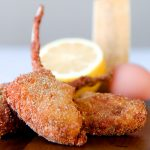 FRIED LAMB CHOPS in traditional Italian batter