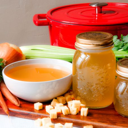 BEEF STOCK with chicken and vegetables Italian way