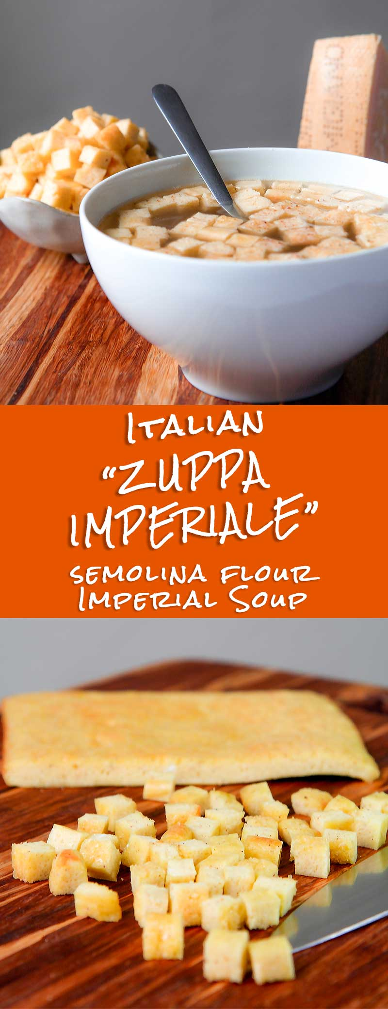 Imperial soup Bolognese traditional recipe: zuppa imperiale