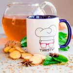GINGER LEMON DETOX DRINK with mint leaves, anise and fennel seeds