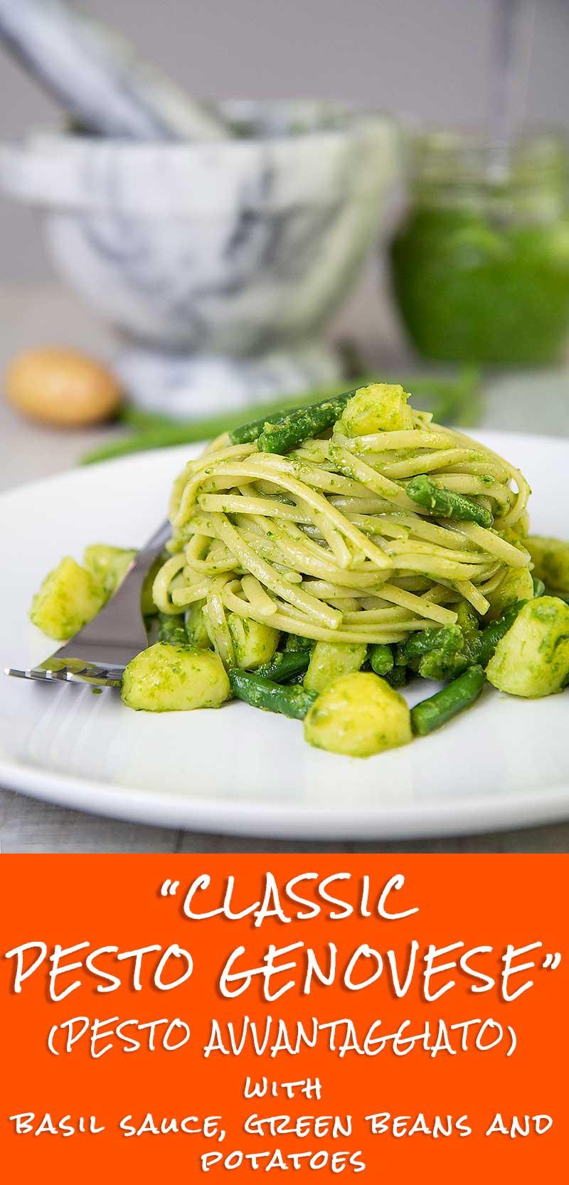 PESTO GENOVESE with green beans and potatoes (pesto avantaggiato)