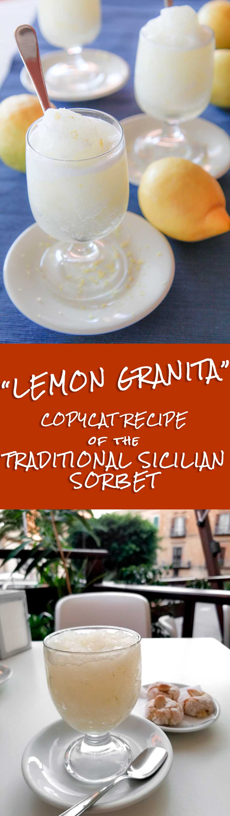 LEMON GRANITA - traditional Sicilian sorbet recipe