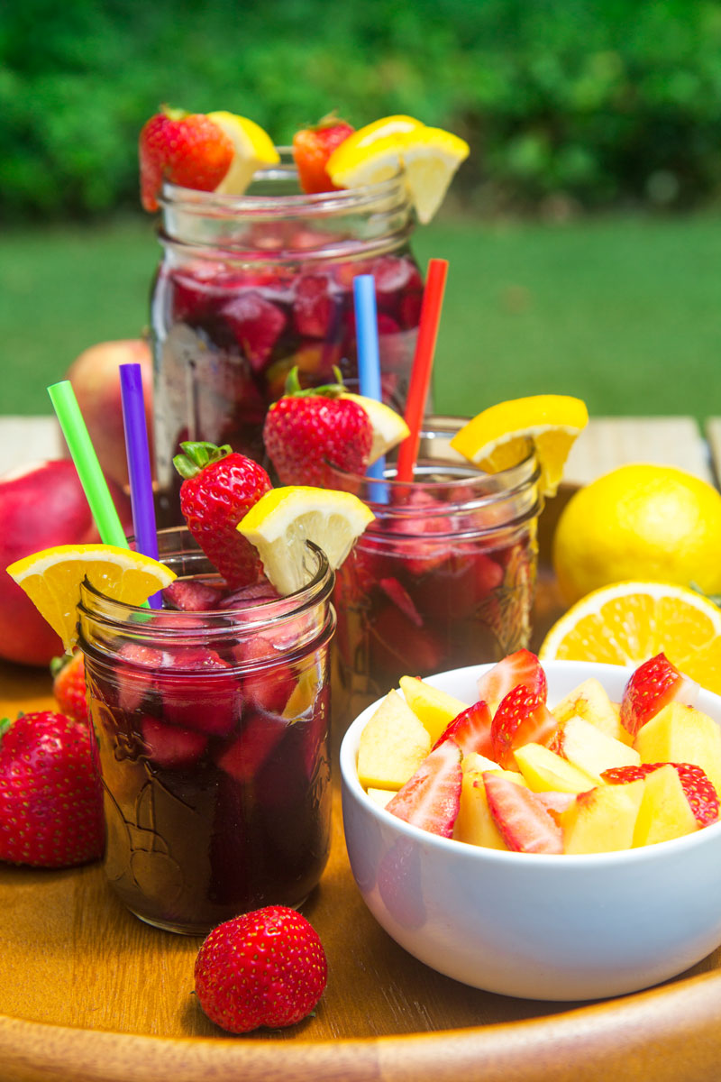 NON ALCOHOLIC SANGRIA PITCHER FOR KIDS - party vitamin boost!