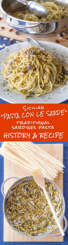 SARDINES PASTA (pasta con le sarde) SICILIAN RECIPE AND HISTORY