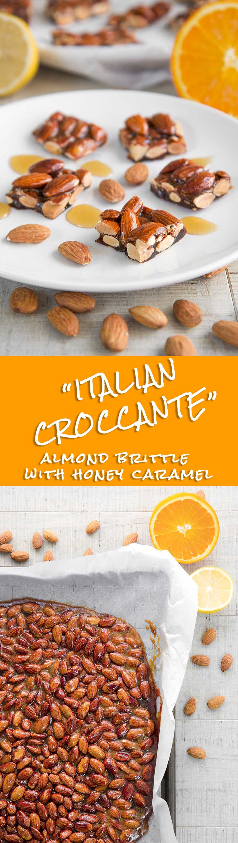 ITALIAN CROCCANTE -caramelized almond brittle bars recipe