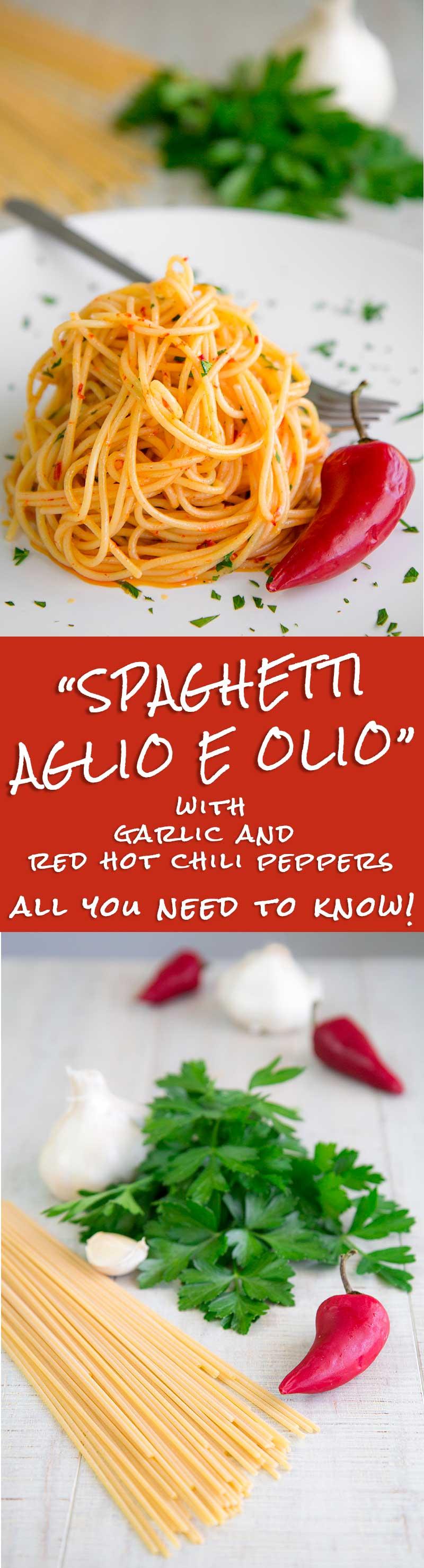 AGLIO E OLIO RECIPE - Neapolitan spicy spaghetti recipe & history