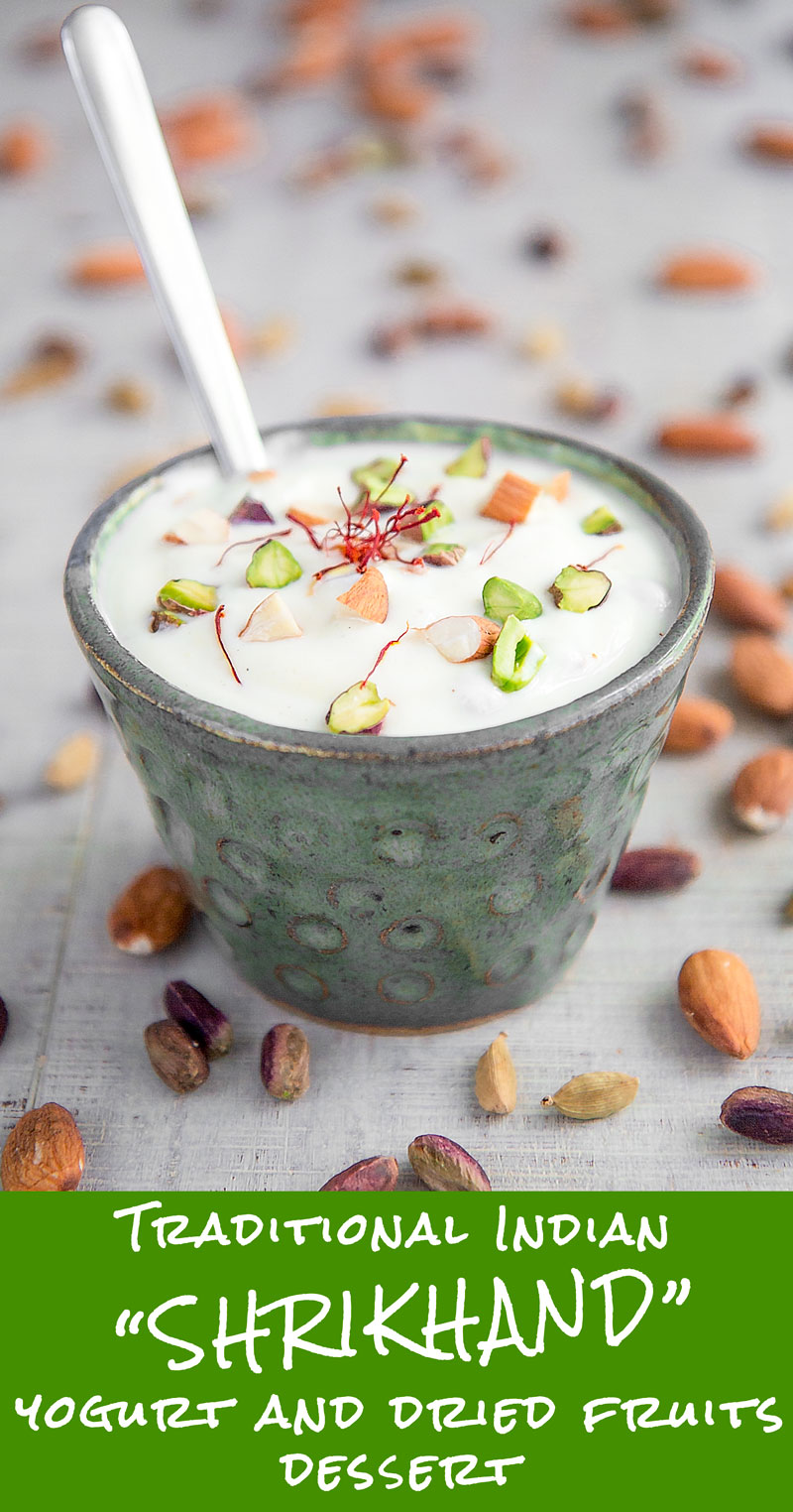 SHRIKHAND RECIPE - Indian sweet & spicy flavored yogurt
