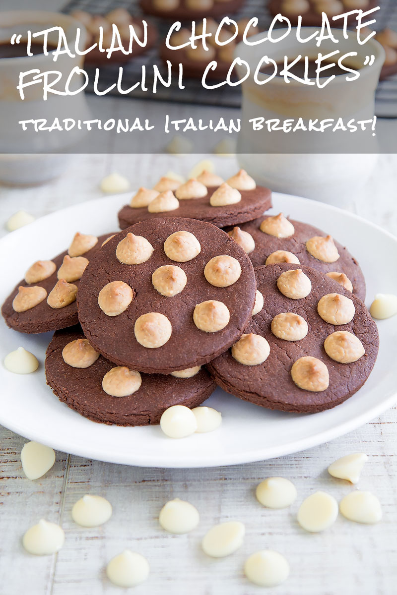 ITALIAN COCOA FROLLINI RECIPE with white chocolate chips