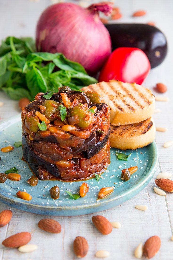 PALERMITAN CAPONATA - traditional Sicilian appetizer