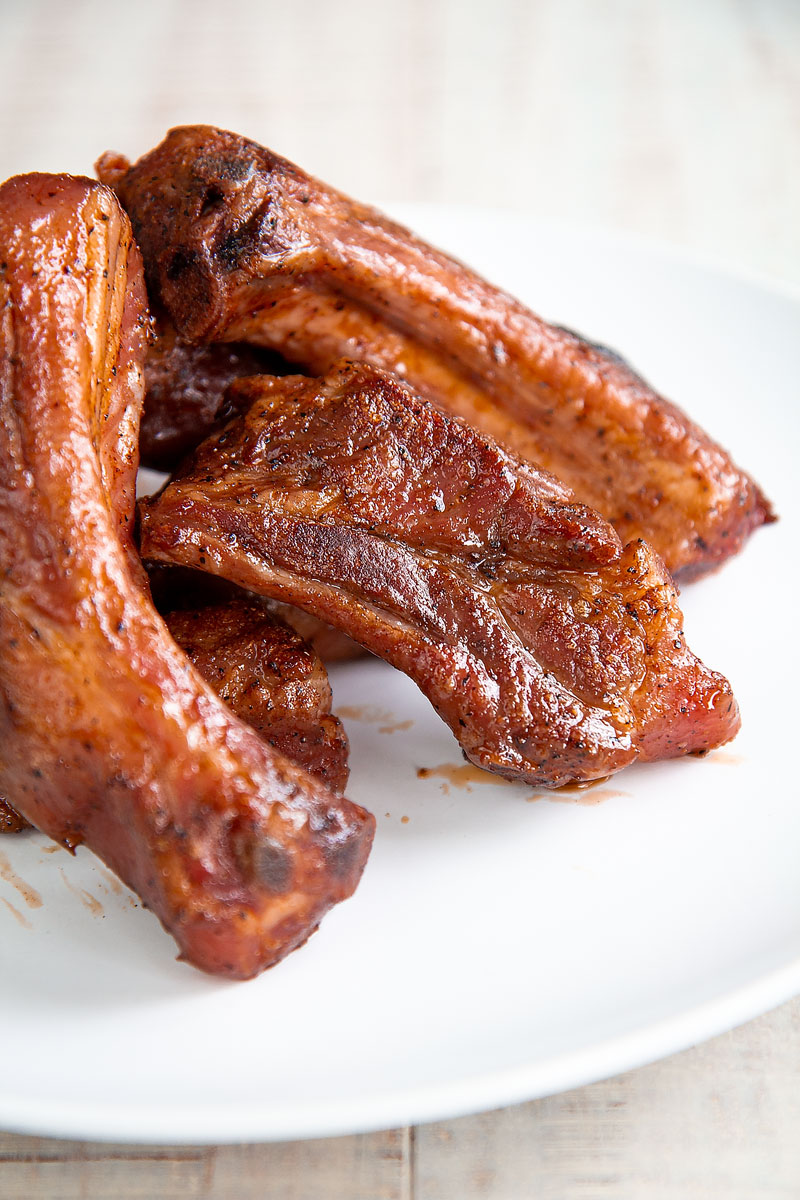 SOUS VIDE PORK RIBS braised with red wine sauce