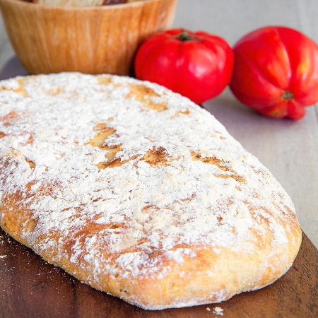 CIABATTA BREAD RECIPE: easy and ready in less than 3 hours!