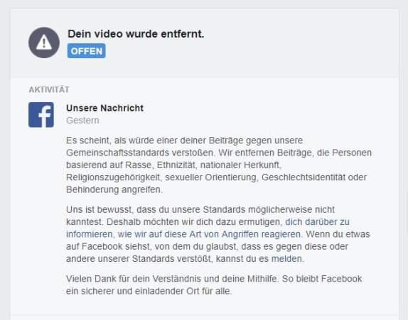 Fb-Sperre Video