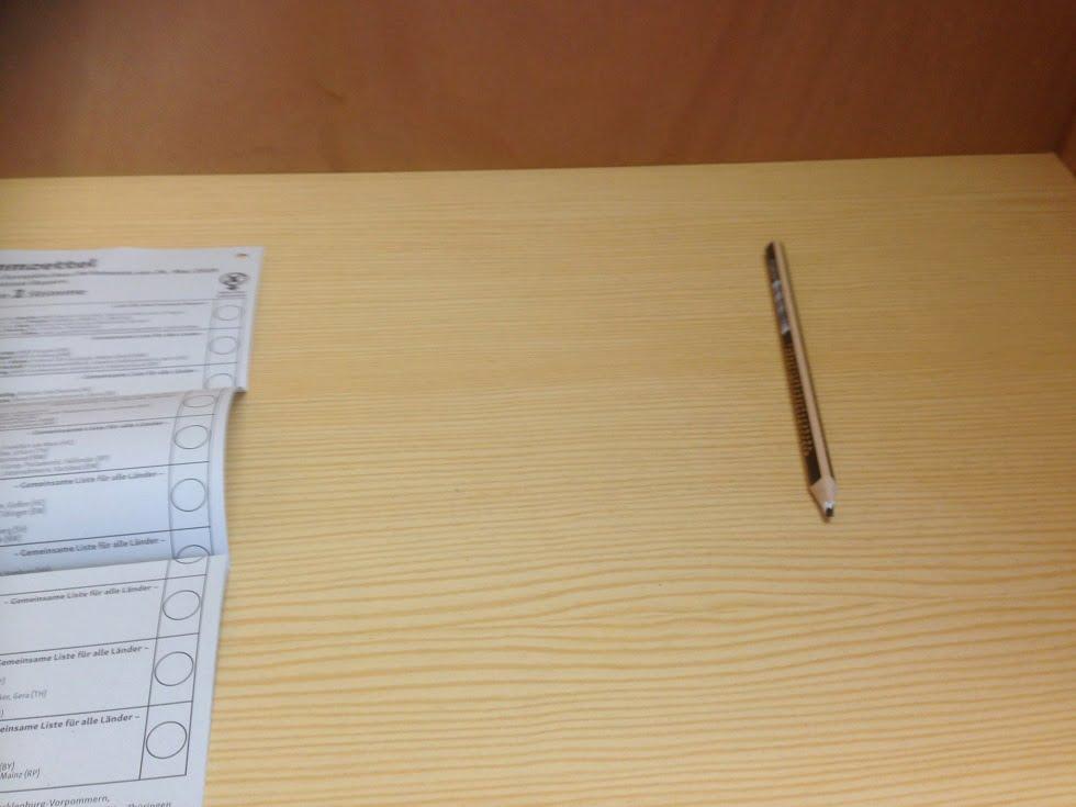 Bayern: Nur Bleistifte bei EU-Wahl ausgelegt?