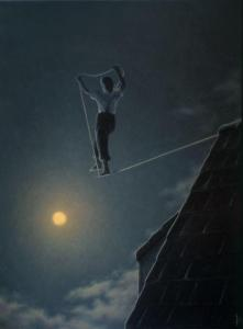 %name Quint Buchholz high wire solo