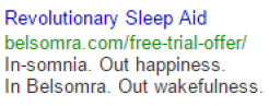 Revolutionary Sleep Aid Google Search Ad