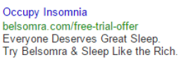 occupy insomnia google search ads