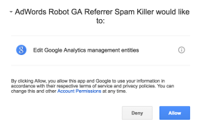Grant Google Adwords Robot permission to your Google Analytics Account