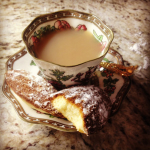 tea and madeleine