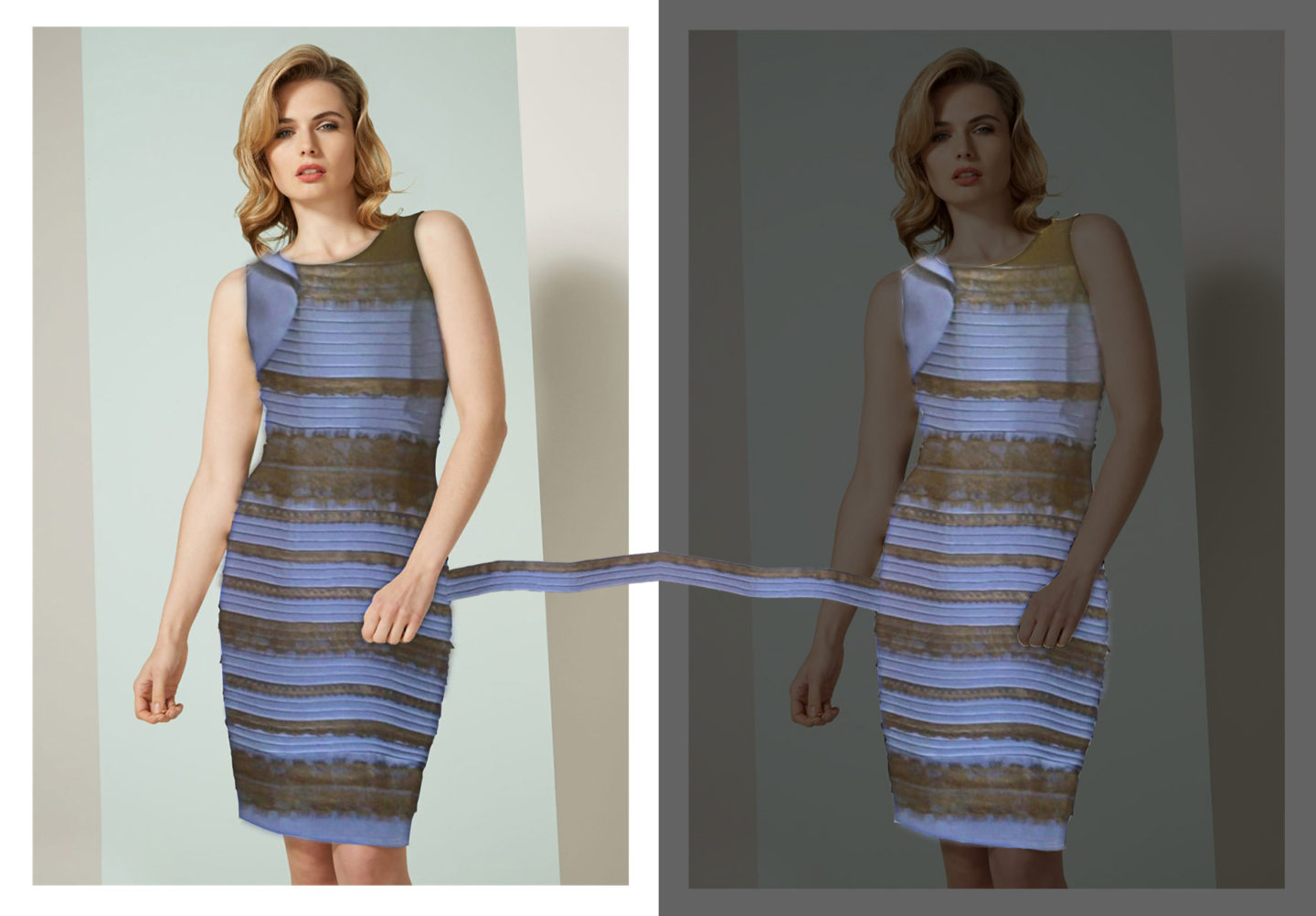 black dresses collection white n gold dress or black and blue dress