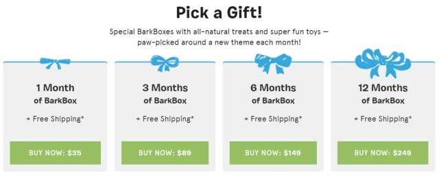 BarkBox Gift Subscriptions