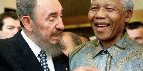 Castro with Mandela