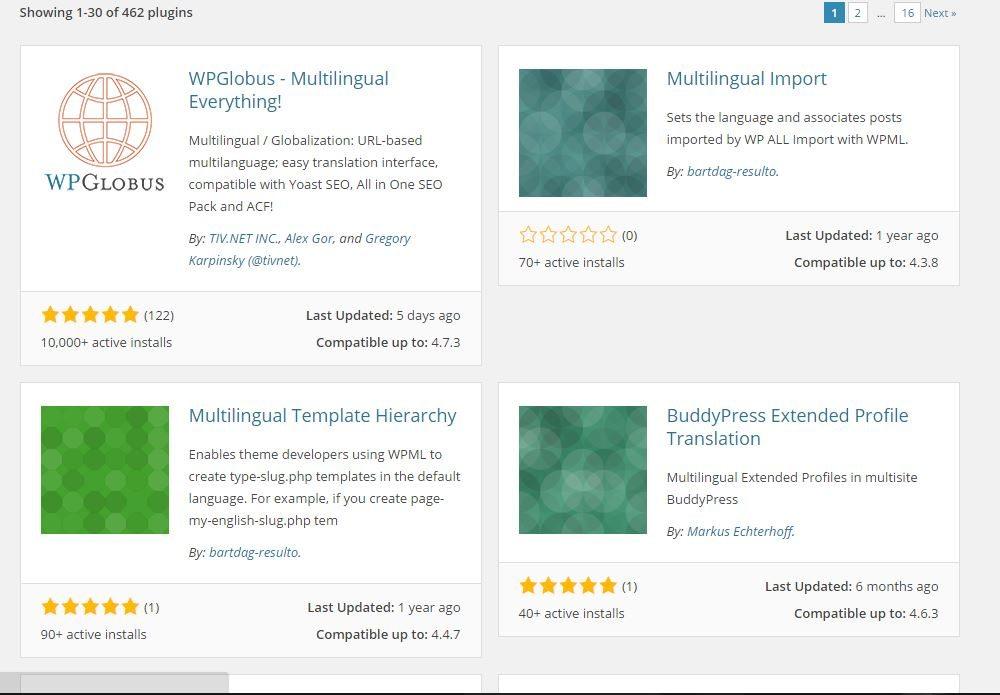 Plugins for Multilingual WordPress site