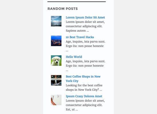 display random posts 2