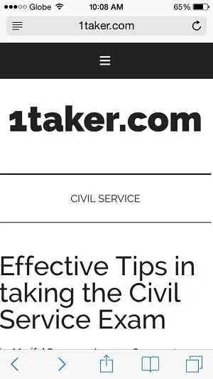 civil service online reviewer