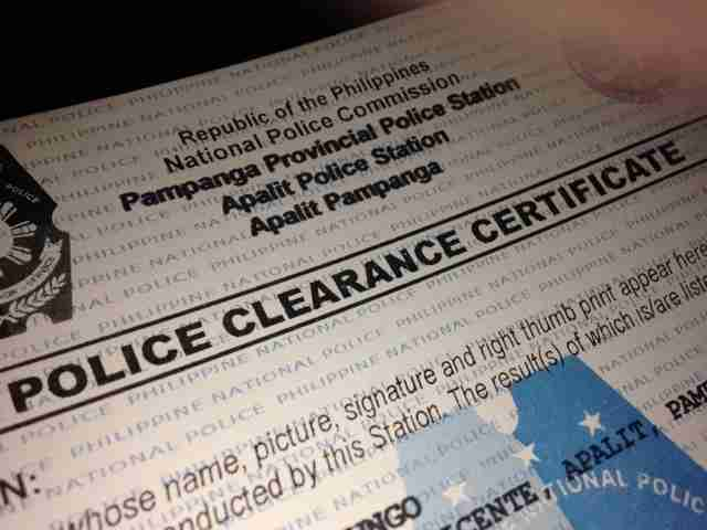 How to get Police Clearance in the Philippines, Requirements