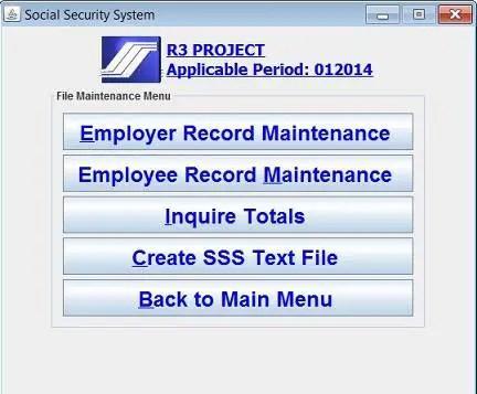 new sss r3 program 2014