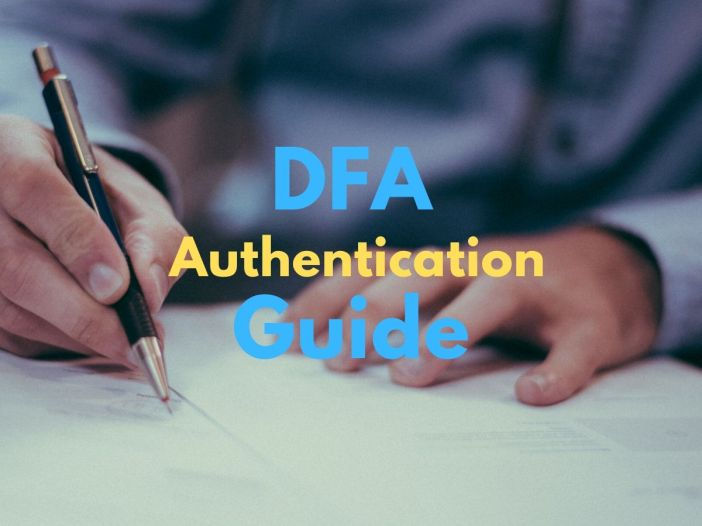 dfa authentication requirements and procedure
