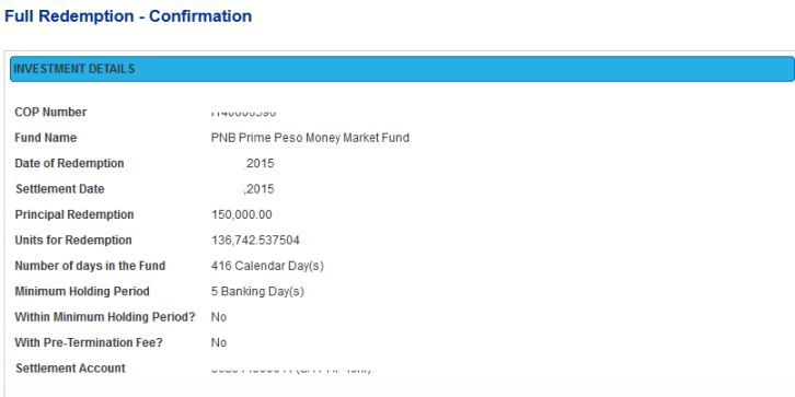 how to redeem uitf online using pnb