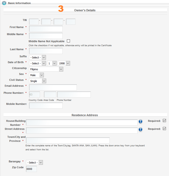 how to get dti certificate online