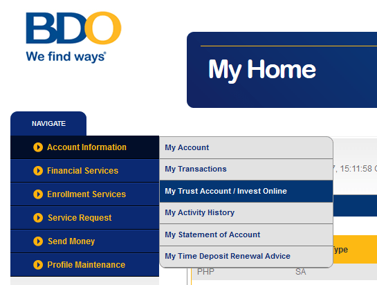 how to invest bdo uitf online