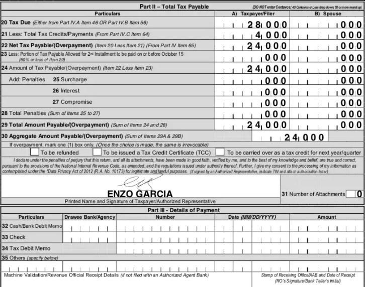 tax payable philippines
