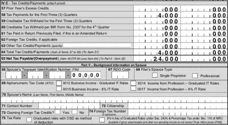 making tax return in bir