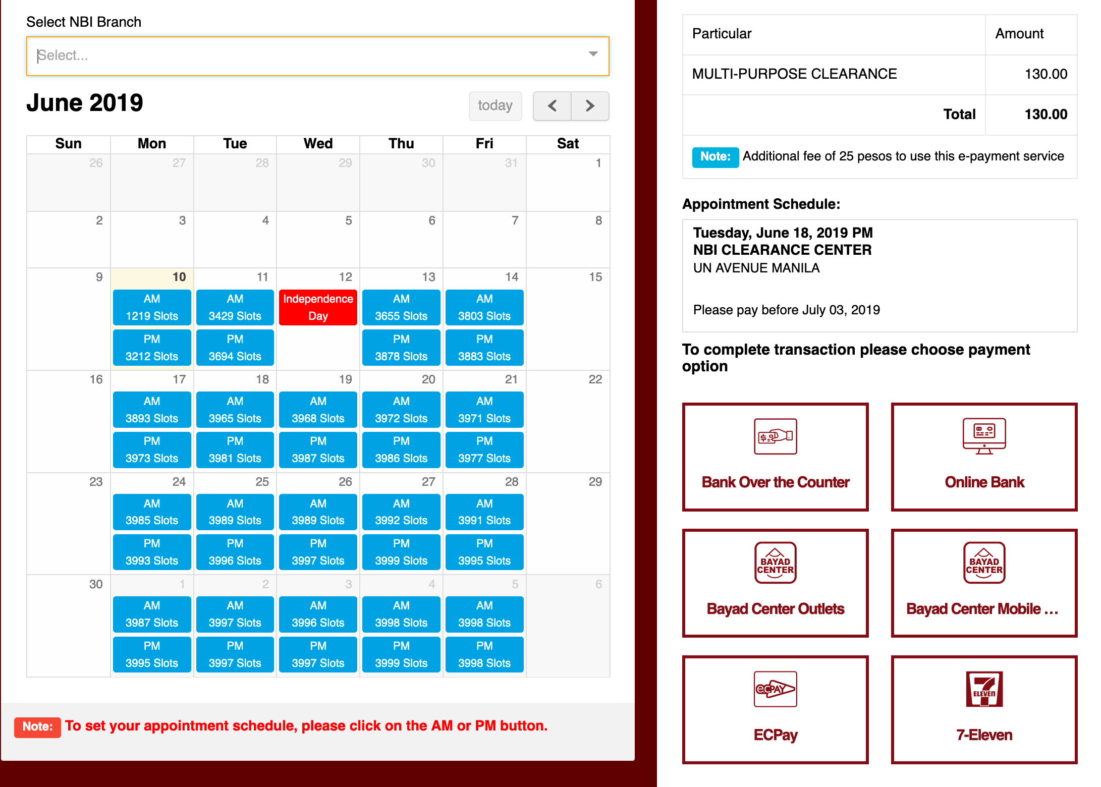 nbi appointment schedule