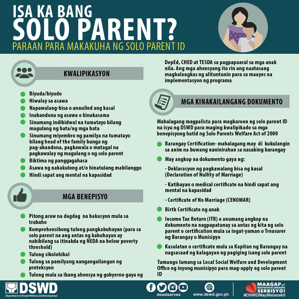 solo parent id requirements